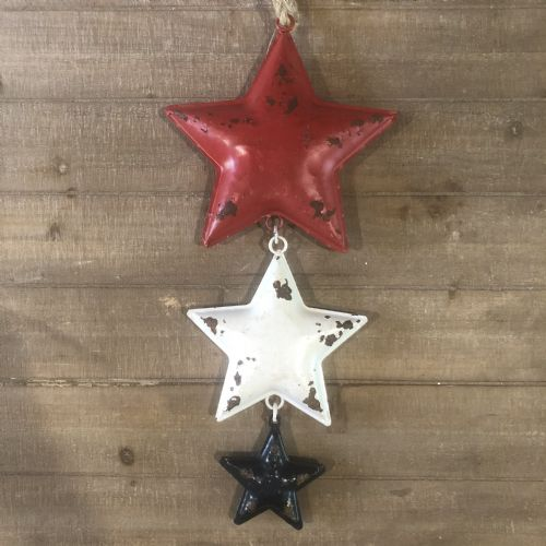 AC Set/3 RWB Hanging Stars