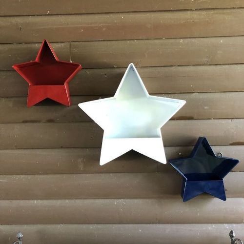 Galvanized Star Wall Pocket (Large)