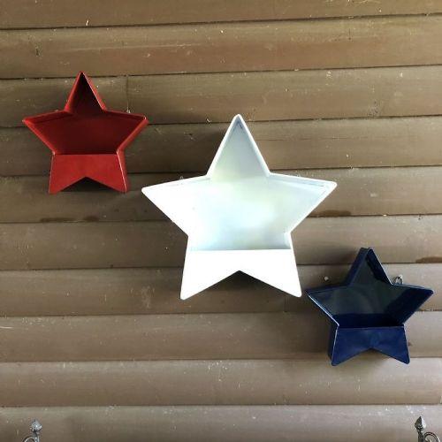 Galvanized Star Wall Pocket (Large)
