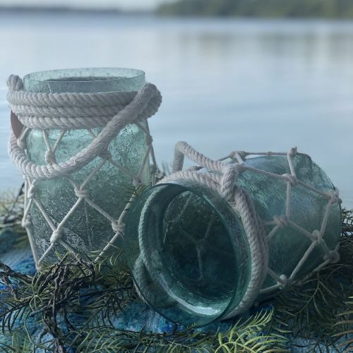 Lake Glass Rope Candle Holder (Small)