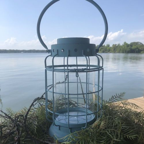 Lantern Metal W/ Glass Cylinder