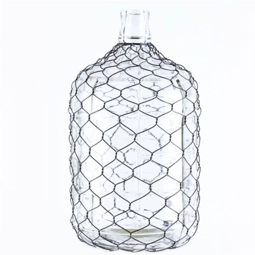 Jug Glass W/ Chicken Wire Large