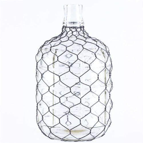 Jug Glass W/Chicken Wire Small