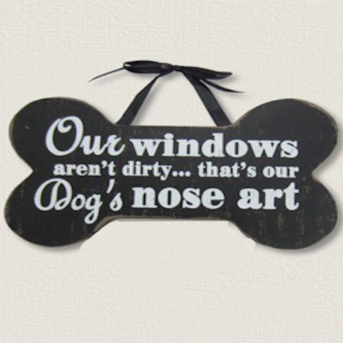 Pet Dogs Nose Art   Wood Sign
