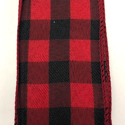 Black/Red Buffalo Check 2.5