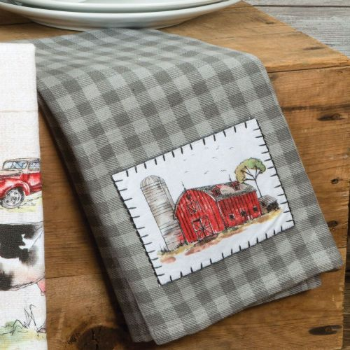 KT Country Life Applique Tea Towel
