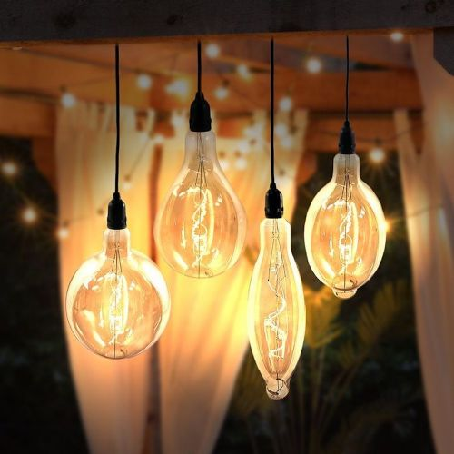 Battery Powered Vintage Oversized Bulb (Tapered)