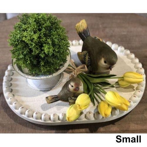 Tray Oval Bead Tray W/Bead Trim | 2 Sizes