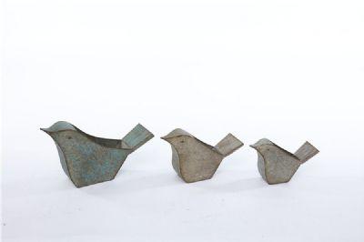 Galvanized Birds Set/3