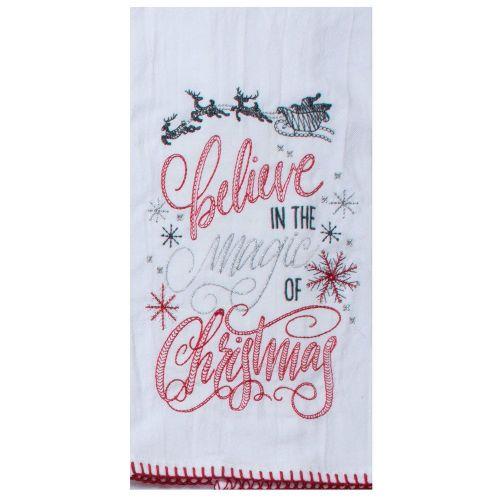 Twigs Believe in the Magic of Christmas Tea Towel