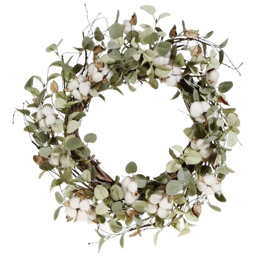 Cotton & Eucalyptus Wreath