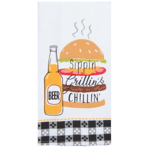 KT Sippin' Grillin' & Chillin' Tea Towel