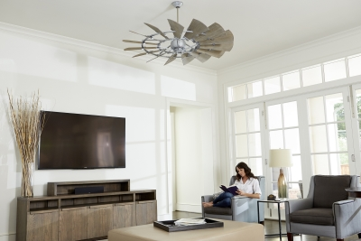 "Windmill 60"" Ceiling Fan Galvanized Finish (Indoor)"