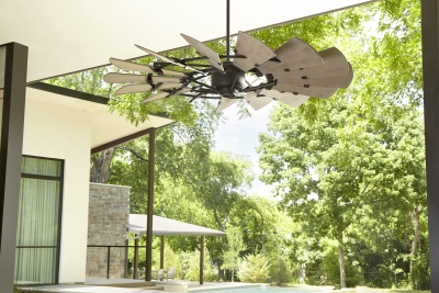 "Windmill 60"" Ceiling Fan Oiled Bronze Finish (Outdoor)"