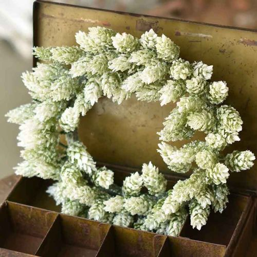 Candle Ring Frosted Hops 6