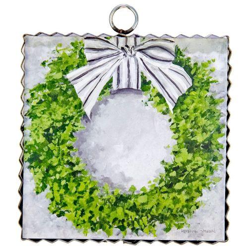 Mini Boxwood Wreath Print