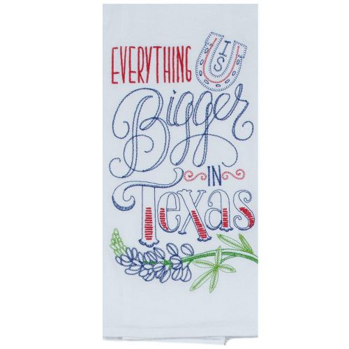 bigger in texas tea towel