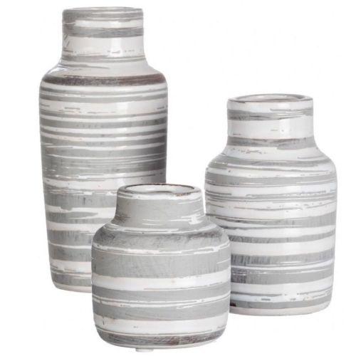 Striped Bottle Vase Set/3
