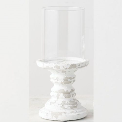 Candle Holder Farmhouse Style W/Glass Globe