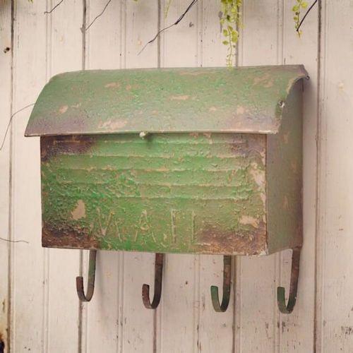 Vintage Mailbox W/Hooks