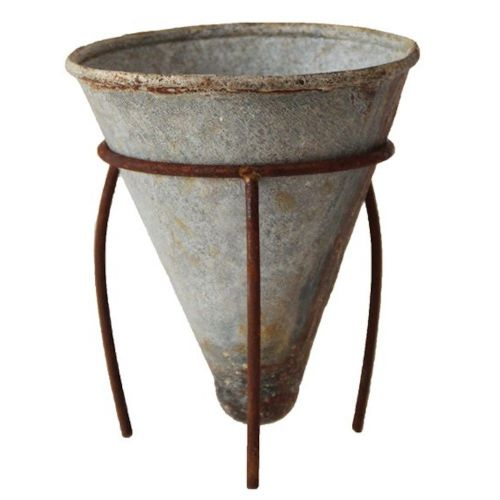 Metal Cone Planter W/ Stand