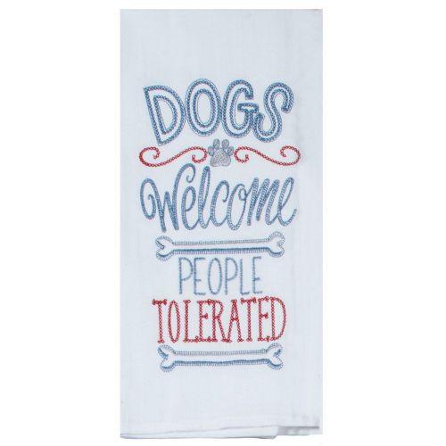 dog tea towel