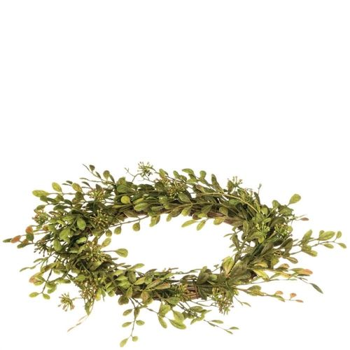 Candle Ring English Boxwood 6.5