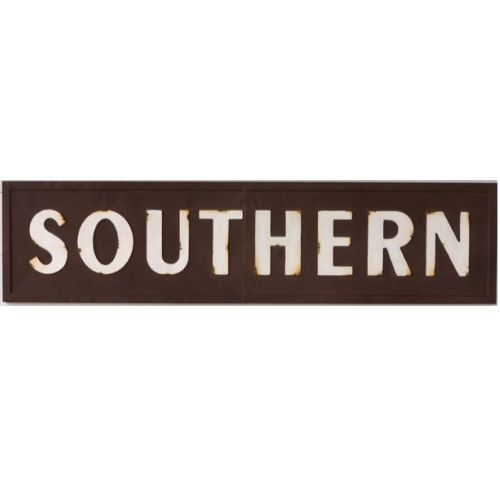 """Southern"" Metal Sign"