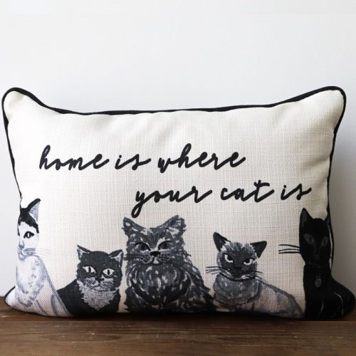 Pillow-Home Is Where Your Cat Is