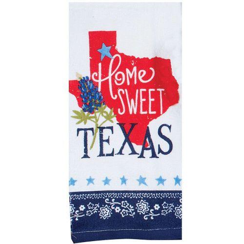 home sweet texas tea towel