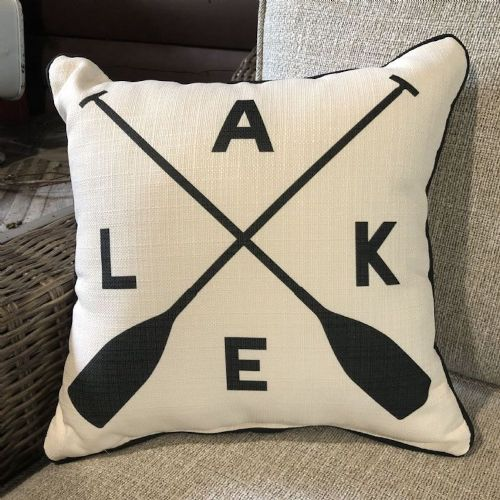 lake pillow with paddles