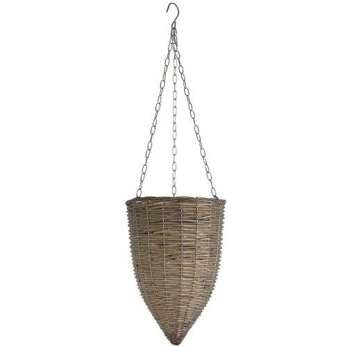 Hanging Basket Willow/Metal LG