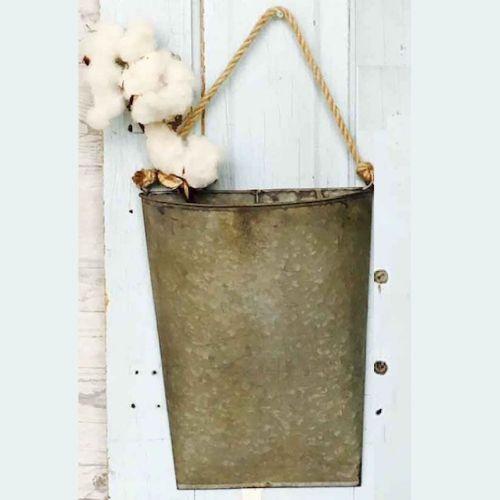 Galvanized Hanging Pocket (Large)