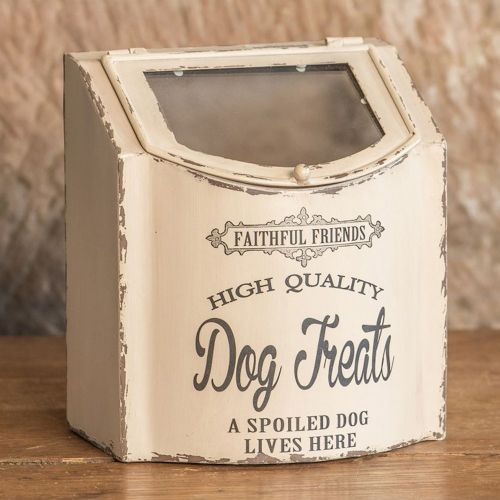 metal dog treat box