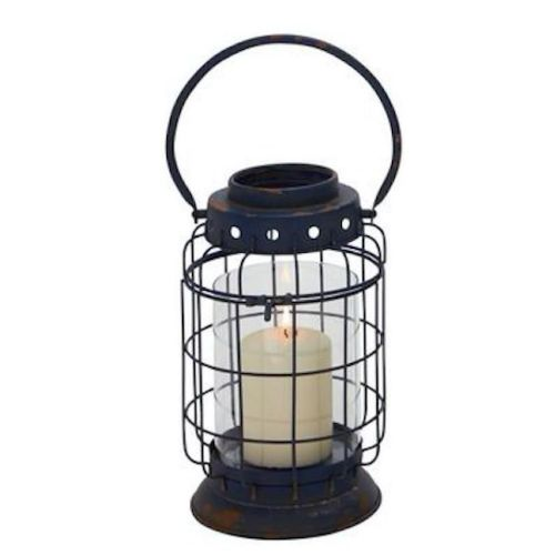 Lantern Metal W/ Glass Cylinder