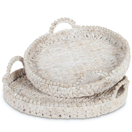 Tray (Medium Round Water Hyacinth)
