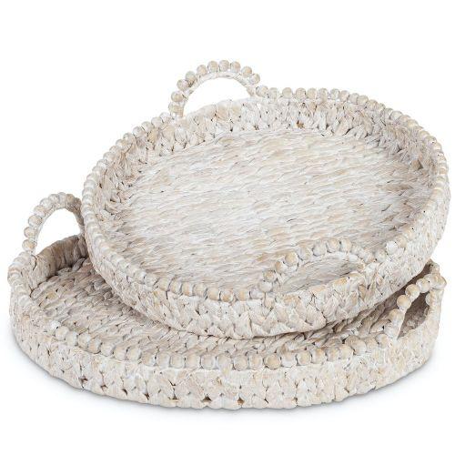 Tray (Large Round Water Hyacinth)