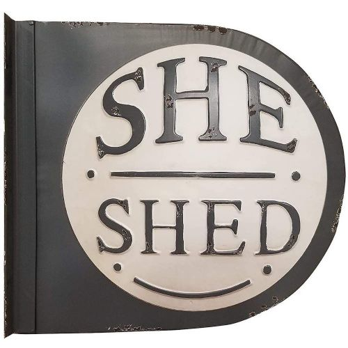 """She Shed"" Metal Sign"