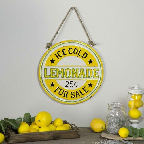 "Lemonade Embossed Wall Decor 12""H"