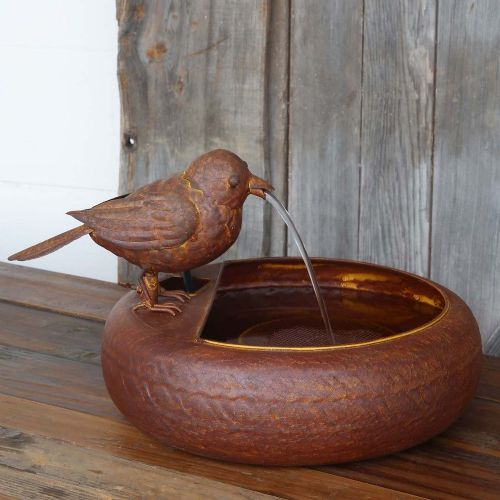 small bird fountain