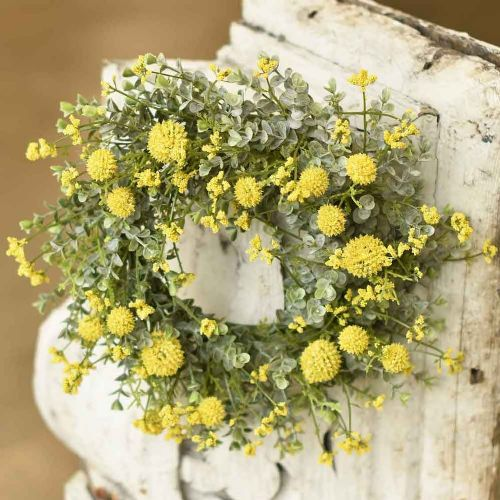 yellow garden bliss candle ring