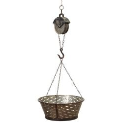Metal Pulley W/Hook Holding Basket