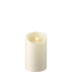 Wax Pillar Flameless Candle with Timer Ivory 3.5