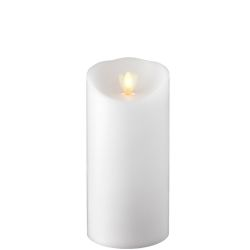 Wax Pillar Fireless Candle with Timer White 3.5