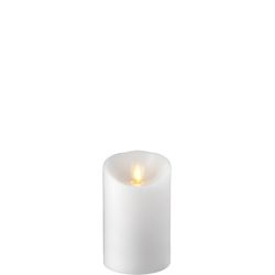 Wax Pillar Fireless Candle With Timer White 3