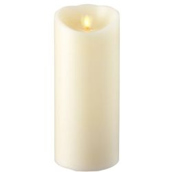 Wax Pillar Flameless Candle with Timer Ivory 4
