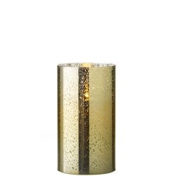 Mercury Glass Flameless Candle (Gold) 3.5