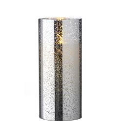 Mercury Glass Flameless Candle (Silver) 3.5