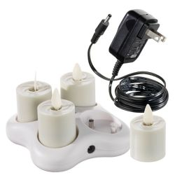Flameless Rechargeable Votive Set