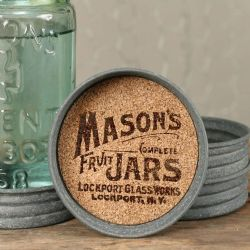 Mason Jar Lid Coaster Logo
